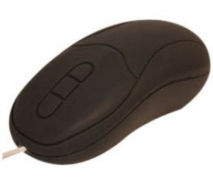 Cherry Washable Optical Mouse Black Usb. Completely Sealed Silicone-based Casing-nema 4 Rated.