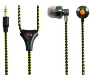 Nu Metal Waterproof (ipx7) All-weather Earphone Kit Yellow/ Circle Line