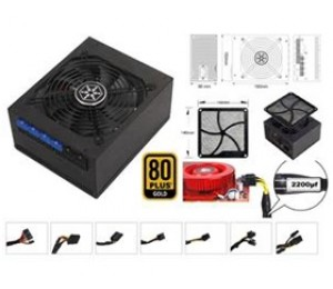 Silverstone 1000W 80+ Gold PSU Full Modular, 140mm Dust Filter PSST-ST1000G-E
