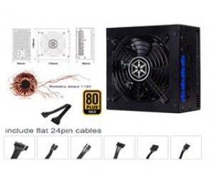 SilverStone 750W 80+ Gold PSU Compact Design & Fully Modular PSST-ST75F-GS