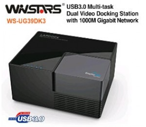 Winstars USB3.0 Multi-task Dual Video Docking Station with 1000M Gigabit Network USBWINUG39DK3