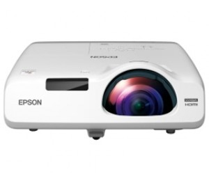 EPSON EB-525W 2800 LUMENS WXGA (1280X800) SHORT THROW 16:10 FORMAT 16 000:1 CONTRAST RATIO 3.7KG