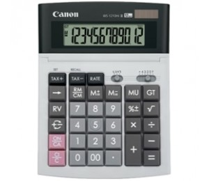 Canon Ws1210 Hi Iii 12 Digit Desktop Calculator, Dual Power, Tax Calculation Function, Adjustable