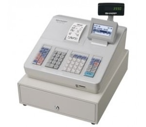 Sharp Cash Register With Raised Keyboard/ White. Built-in Sd Card Slot For Easy Sales Data Transfer