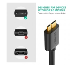 Ugreen Usb 3.0 A Male To Micro Usb 3.0 Male Cable 2M (Black) 10843 Acbugn10843