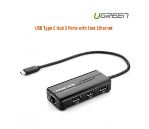 UGREEN USB Type C Hub 3 Ports with Fast Ethernet 30289 ACBUGN30289