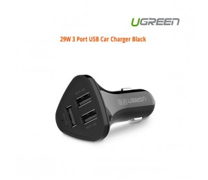 Ugreen 29W 3 Port USB Car Charger Black ACBUGN40284 ACBUGN40284
