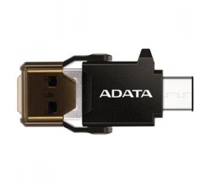 Adata Technology Adata Usb-c Otg Reader Plugs In To Reversible Usb-c Ports On One End And Also To