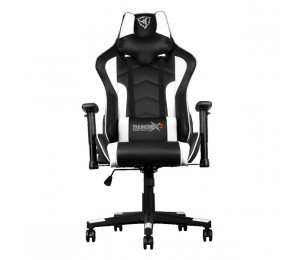 Aerocool Black & White ThunderX3 TGC22 Adjustable Ergonomic Motorsports Inspired Desk Chair AER-4710700959596