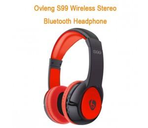 Ovleng S99 Wireless Stereo Bluetooth Headphone (Red/ Black) AHSOVLS99B-R