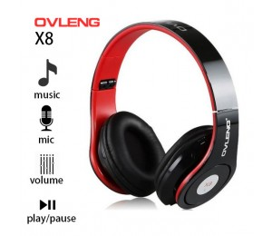 Ovleng X8 3.5mm Foldable Professional Studio Stereo Cellphone Headphones Headset Pc Bass Headphones