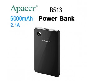 Apacer Mobile Power Bank B513 6000mah Black Mobapapbank513b6000