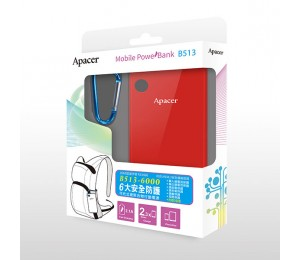 Apacer Mobile Power Bank B513 6000mah Red Mobapapbankb513rd