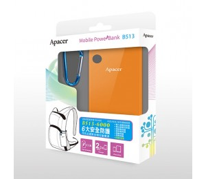 Apacer Mobile Power Bank B513 6000mah Orange Mobapapbankb513or