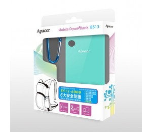 Apacer Mobile Power Bank B513 6000mah Blue Mobapapbankb513bu