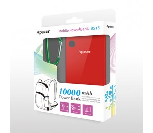 Apacer Mobile Power Bank B515 10000mah Red Rp Apacer B515r-1