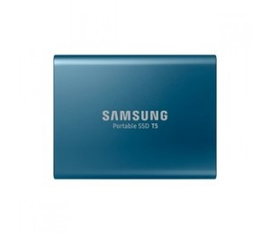 Samsung Portable Ssd T5 500Gb Alluring Blue Usb3.1 Type-C Up To 540Mb/ S Aluminium Case Password Security 3 Years Warranty Mu-Pa500B/Ww
