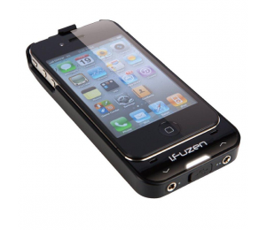 Auzentech Black i.Fuzen HP1 Dual Audio, Power & Protection For iPhone4 AZT-IFUZEN-BLK