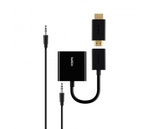 BELKIN HDMI TO VGA ADAPTER KIT WITH 3.5MM AUDIO B2B137-BLK