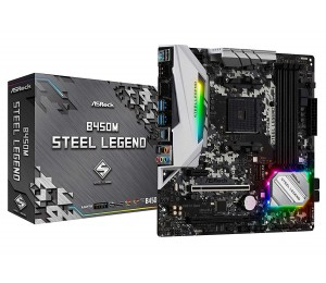 Asrock B450M Steel Legend Amd Am4 Matx Mb B450M-Steel Legend