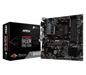 Msi Amd B450 Am4 Matx Pro Motherboard 4xddr4 2x Pci-e X 1 1x Pci-e X 16 D-sub Dvi Hdmi 1x M.2 Gb