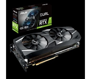 Asus Dual Geforce Rtx2070 Oc Edition 8gb Gddr6 With Powerful Cooling For Higher Refresh Rates And Vr Gaming 90yv0c82-m0na00