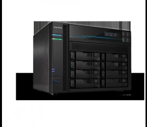 Asustor AS6508T 8 Bay Lockerstor 8 NAS Intel Atom C3538 Quad Core 2.1GHz 8GB DDR4 2x2.5GbE 2x10GbE 2xM.2PCIE 2xUSB3.2Gen1 WoW Snapshot Virtualization As6508T
