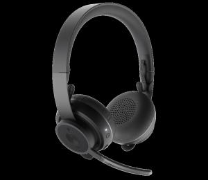 Bundle Logitech Zone Wireless Noise Cancelling Stereo Headset Bonus Belkin 10W Qi Charger 981-000799-10Qi
