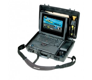 Pelican 1490Cc1 Notebook Protector Case Military Grade Tough Rugged With Lid & Tray Organizer Watertight