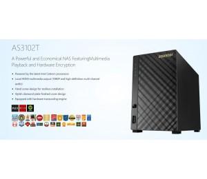Asustor 2-bay Nas V1 Intel Celeron Dual-core 2 Gb So-dimm Ddr3l Gbe X1 Usb 3.0 Wol System Sleep
