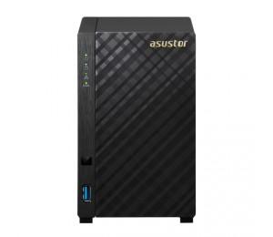 Asustor As3102t-v2 2-bay Nas Intel Celeron Dual-core 2 Gb So-dimm Ddr3l Gbe X 2 Usb 3.0 Wol System