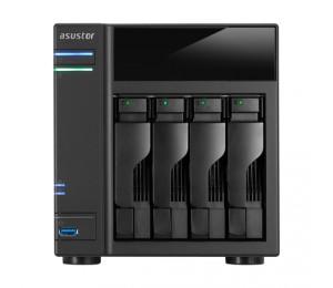 Asustor 4-bay Nas Intel Celeron Dual-core 2 Gb So-dimm Ddr3l Gbe X 2 Usb 3.0 & Esata Wol System