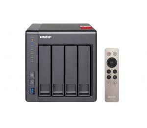 Qnap Ts-451plus-2g Nas 4-bay (no Disk) Cel Qc-2.0ghz 2gb Usb Gbe X2 Twr 2 Year Warranty Ts-451plus-2g