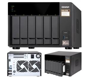 Qnap Ts-673-4g 6-bay Nas Amd Rx-421nd Quad-core ~3.4ghz 4gb Ddr4 512mb Dom 2xm.2 2xpcie 4xusb3.0