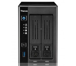 Thecus N2810 PRO 2Bay Tower NAS Cel N3150 Quad Core up to 2.08/ 4GB/ RAID 0-1/ 2xGbE N2810-PRO