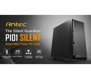 "Antec P101 Silent Atx E-Atx Case 1X 5.25"" 2X 2.5"" Ssd 8X 3.5"" Hdd. Vga Up To 450Mm Cpu Height"