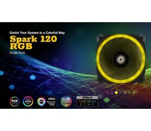 Antec Spark 120 Rgb Dual-Ring Design Hydraulic Bearing Led Pwm Fan. 2 Years Warranty Spark 120 Rgb