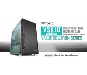 "Antec Vsk10 Window Matx Case. 2X Usb 3.0 Thermally Advanced Builder""S Case."