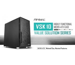 "Antec Vsk10 Matx Case. 2X Usb 3.0 Thermally Advanced Builder""S Case. 1X 120Mm Fan."