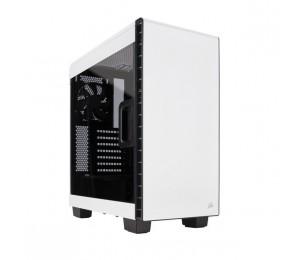 Corsair 400C White Mid-Tower ATX Case with Side Window No ODD Slot. Supports Mini-ITX, MicroATX
