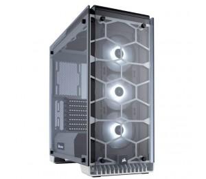 Corsair 570X RGB Crystal Series. 3x 120mm RGB LED Fan ATX Gaming Case White Trim CC-9011110-WW