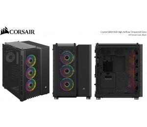 Corsair Crystal Series 680X Rgb High Airflow Tempered Glass Atx Smart Case Black. Cc-9011168-Ww
