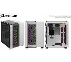 Corsair Crystal Series 680X Rgb High Airflow Tempered Glass Atx Smart Case White. Cc-9011169-Ww