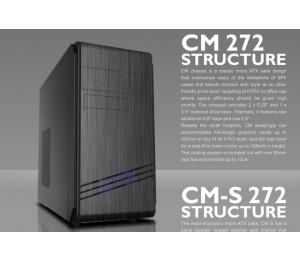 Casecom Cm-272 Matx W/ 550w Usb3+usb2 Hdaudio Cm-272