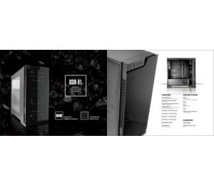 Casecom Rsm-91 Trio Atx No Power Included Front Tempered Glass & 3X Rgb Multicolour 12Cm 18 Led
