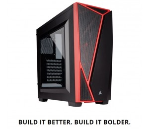CORSAIR Carbide SPEC-04 Mid-Tower Gaming Case Black & Red CC-9011107-WW