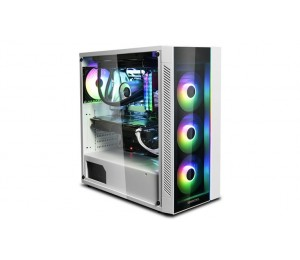 Deepcool Matrexx 55 Argb Wh Full Sized Tempered Glass Case White Colour Supports E-Atx Argb Led