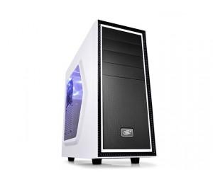 Deepcool Tesseract Sw Mid Tower Case Side Window Includes 1 Blue 120mm Led Fan White Tesseract