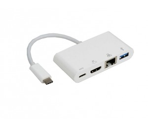 8ware Usb Type-c To 3.0 Type-a + Hdmi + Gigabit Ethernet With Type-c Charging Port - Up  To 60w
