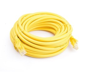 8Ware Cat6A Utp Ethernet Cable 10M Snagless  Yellow Pl6A-10Yel